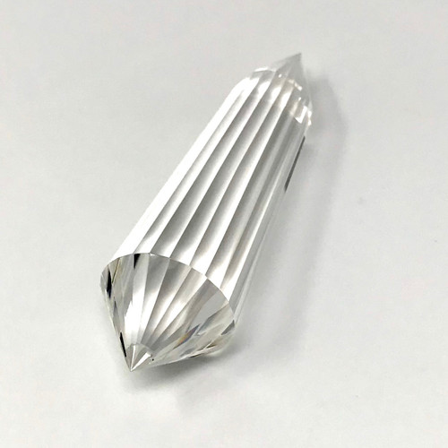 "Clear Quartz Generator Wand 24 Facets 4.5"" 127g"