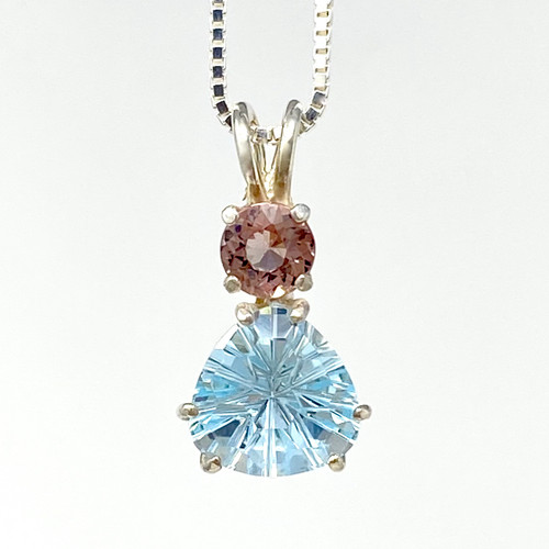 Blue Topaz Super Nova with Violet Tourmaline