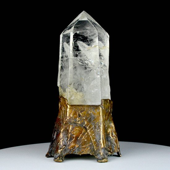"""Brazilian Quartz Crystal Sculpture """"Swimming the Reef"""" by Lawrence Stoller"""