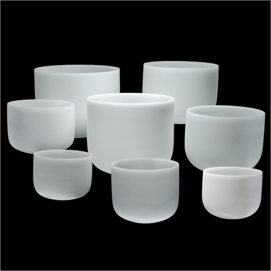 "Perfect Pitch Crystal Singing Bowls 8-Bowl Chakra Set 432 Hz 7""-14"""