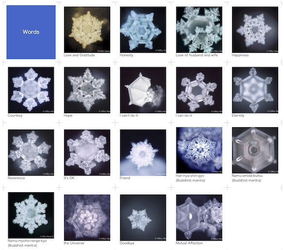 Emoto Effects of Words on Water
