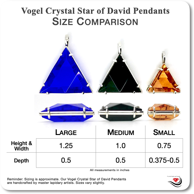 Vogel Crystal Pendant Sizing