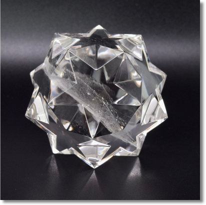Clear Quartz Pentadodecahedron by Lawrence Stoller