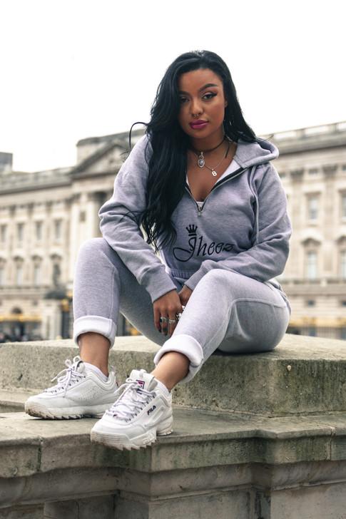 Jheez Womens Grey Tracksuit