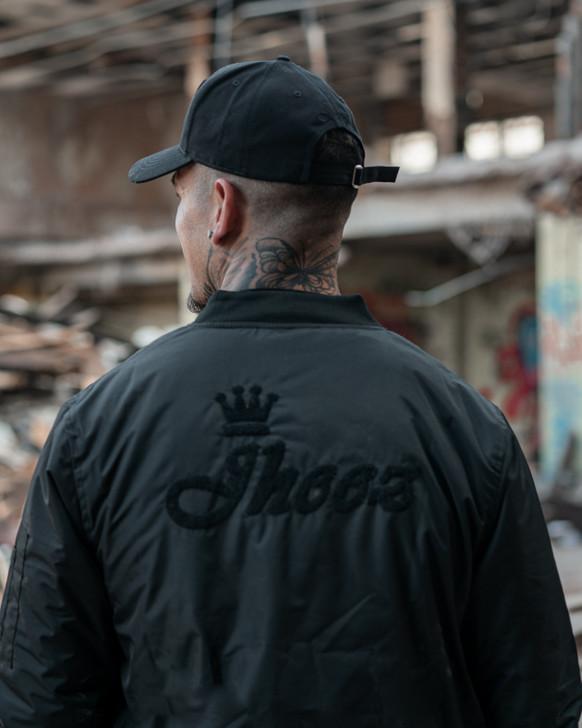 Jheez Chenille Print Bomber Jacket