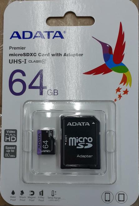 Micro SD Card 64GB (New Retail Packaging) Adata