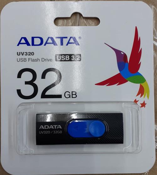 Adata Usb Drive (Black/Blue) 32GB (New Retail Pakaging)