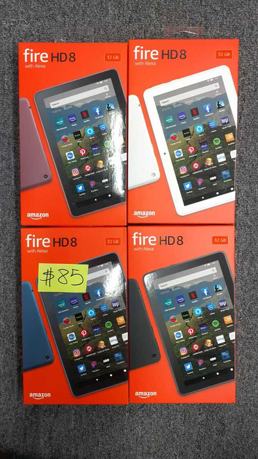 Amazon Fire 8 HD wifi Tablet- Burgandy