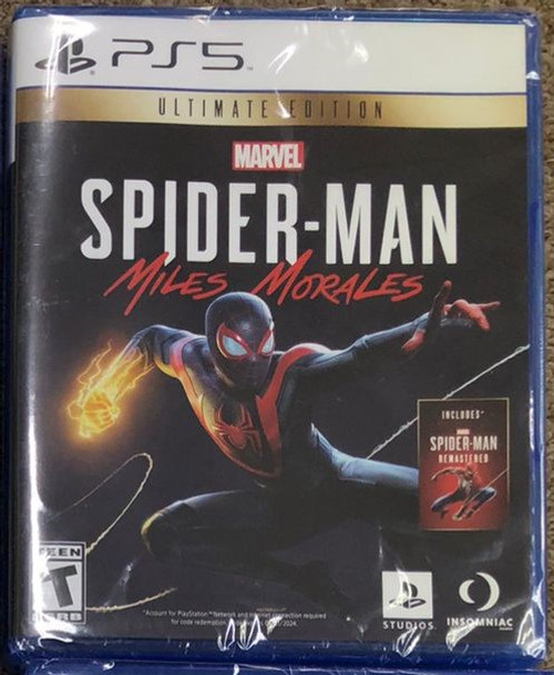 Spiderman CD game for PS5