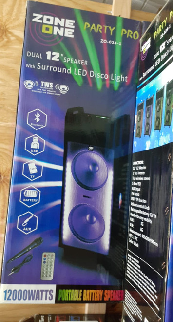 Zone One Party Pro Bluetooth Speaker