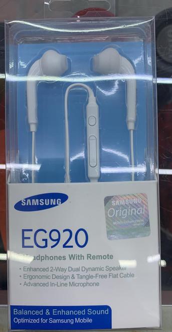 Samsung Headphones with Remote(EG920) (New) White