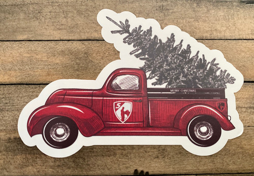 Christmas Truck - Sticker