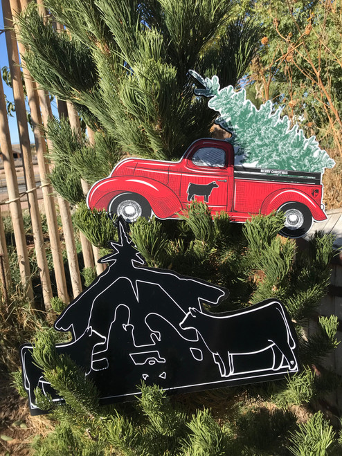 Christmas Trucks & Nativity Cutouts