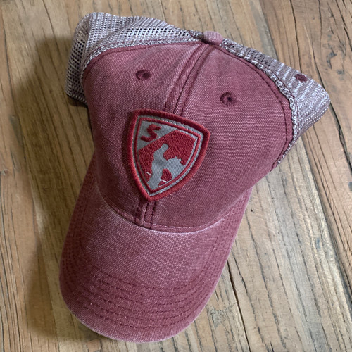Maroon Shield Cap