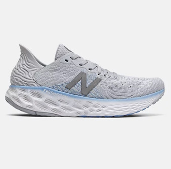 New Balance Women's Fresh Foam 1080v10 in Light Cyclone with Team Carolina & Grey