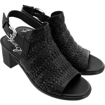 Brighton Interlok Twine Woven Sandals in Black