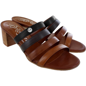 Brighton Barbados Tasia Sandals Heels in Black-Caramel