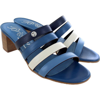 Brighton Barbados Tasia Sandals Heels in Blue-Multi