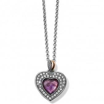 Brighton Neptune's Rings Amethyst Heart Reversible Necklace