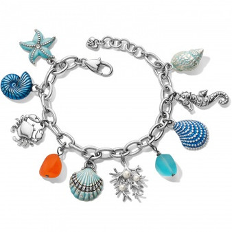 Brighton Sea Shore Charm Bracelet in Silver-Multi