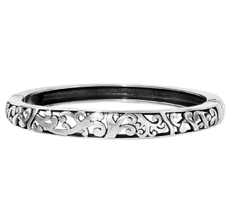 Brighton Elora Hinged Bangle In Silver