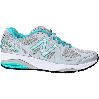 New Balance Women's 1540v2 in Silver with Green