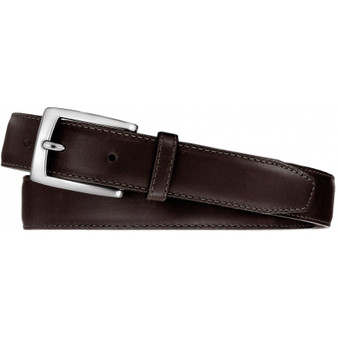 Brighton Men's Norton Dress Belt in Dark Brown