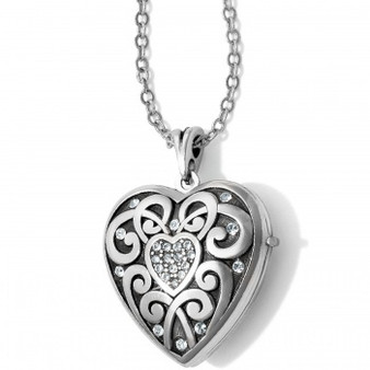 Brighton Sweet Memory Locket Necklace in Silver