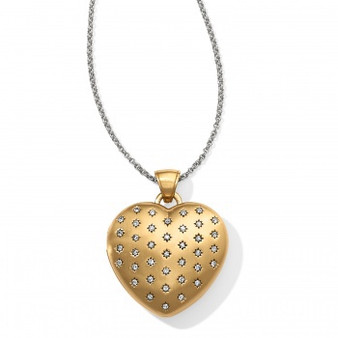Brighton Sweetheart Convertible Locket Necklace in Gold