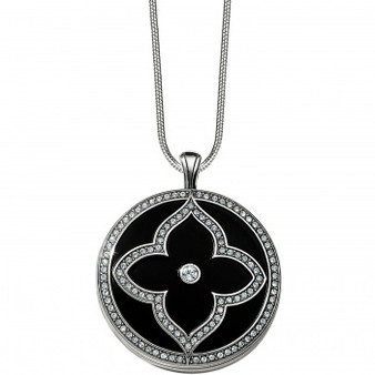 Brighton Toledo Alto Noir Convertible Locket Necklace in Silver-Black