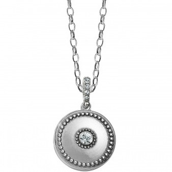 Brighton Twinkle Small Round Locket Necklace in Silver