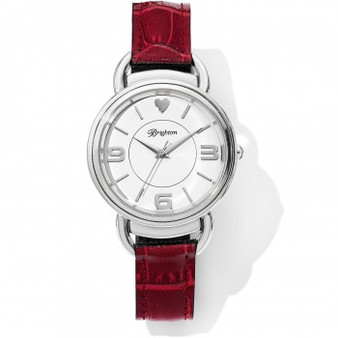 Brighton Helsinki Reversible Watch in Black-Red