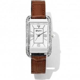 Brighton Monaco Reversible Watch in Brown-Black