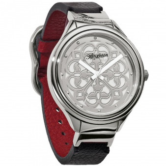 Brighton Ferrara Reversible Watch in Black-Red