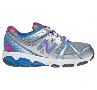 New Balance Children's 689 in Silver/Blue/Pink
