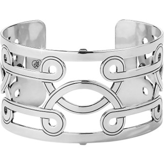 Brighton Christo Lima Wide Cuff Bracelet in Silver