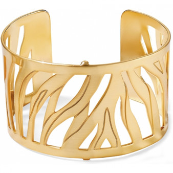 Brighton Christo Johannesburg Wide Cuff Bracelet in Gold