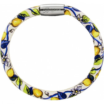 Brighton Woodstock Fashion Print Single Bracelet in Bella Limone