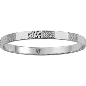 Brighton Meridian Zenith Faceted Bangle in Silver