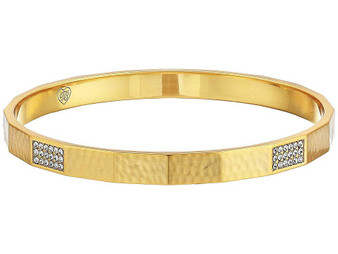 Brighton Meridian Zenith Faceted Bangle in Gold