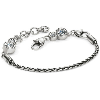 Brighton Infinity Sparkle Slide Bracelet
