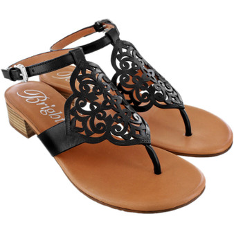 Brighton Women's Casablanca Lina Sandals Heels in Black