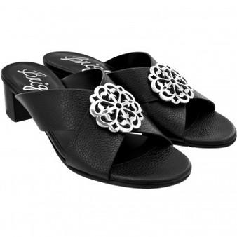 Brighton Women's Ferrara Alison Sandals Heels in Black