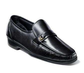 Florsheim Men's Riva Moc Toe Bit Loafer in Black