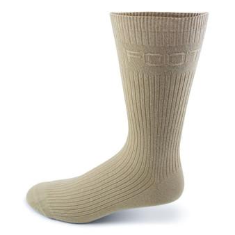 Two Feet Ahead Non-Binding Dress Sock in  Khaki