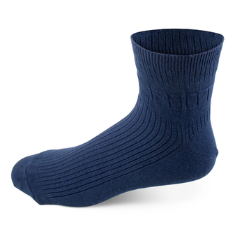 Two Feet Ahead Non-Binding Anklet Sock in Navy