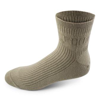 Two Feet Ahead Non-Binding Anklet Sock in Khaki