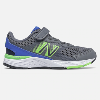 New Balance Children's Bungee Lace 680v6 in Lead Multi