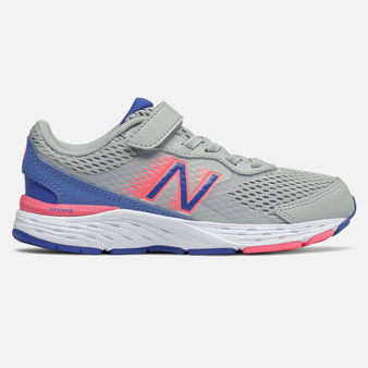 New Balance Toddler's bungee Lace 680v6 in Light Aluminum