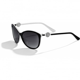Brighton Ferrara Sunglasses in Black and White